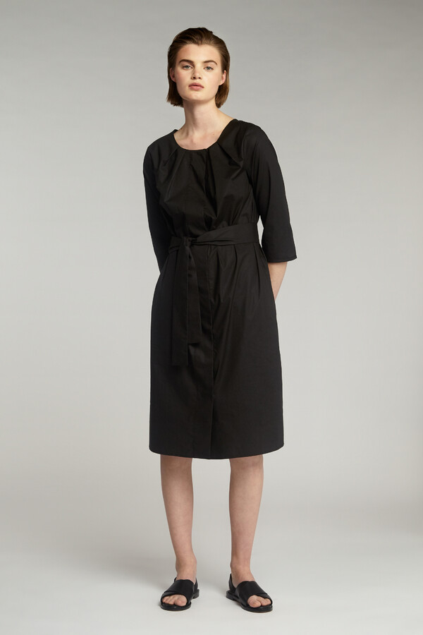 COTTON PLEATED JURK BLACK