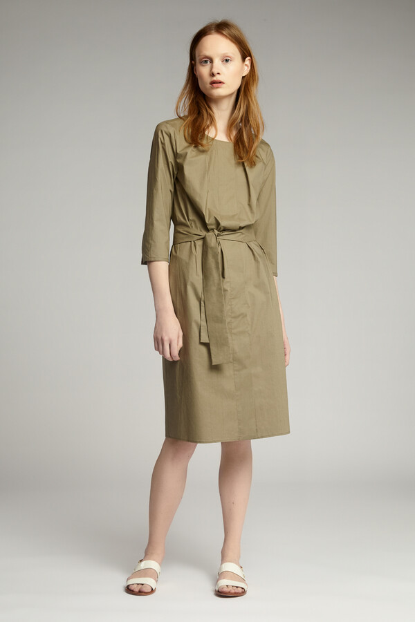 COTTON PLEATED JURK KHAKI
