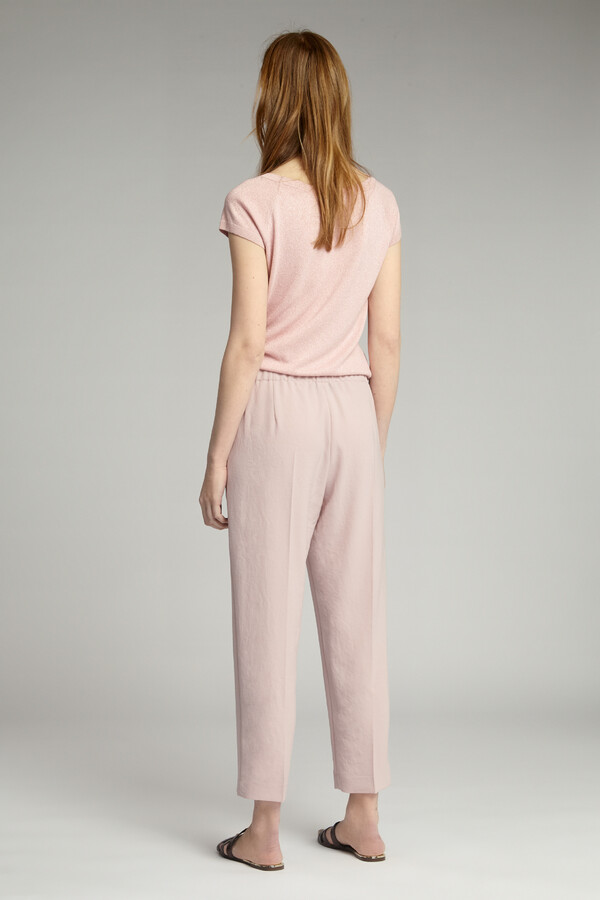 JAPANESE CREPE EASY CHINO FADED ROSE
