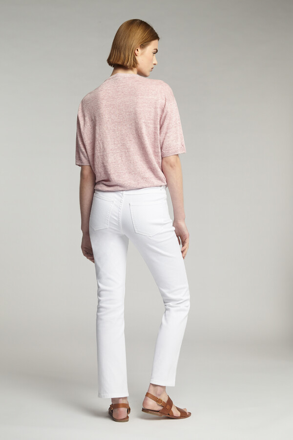 SLIM BOYFRIEND BROEK OFF WHITE