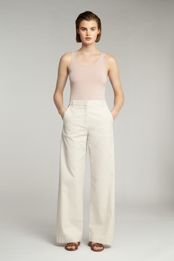 COTTON DRAWSTRING BROEK EGGSHELL