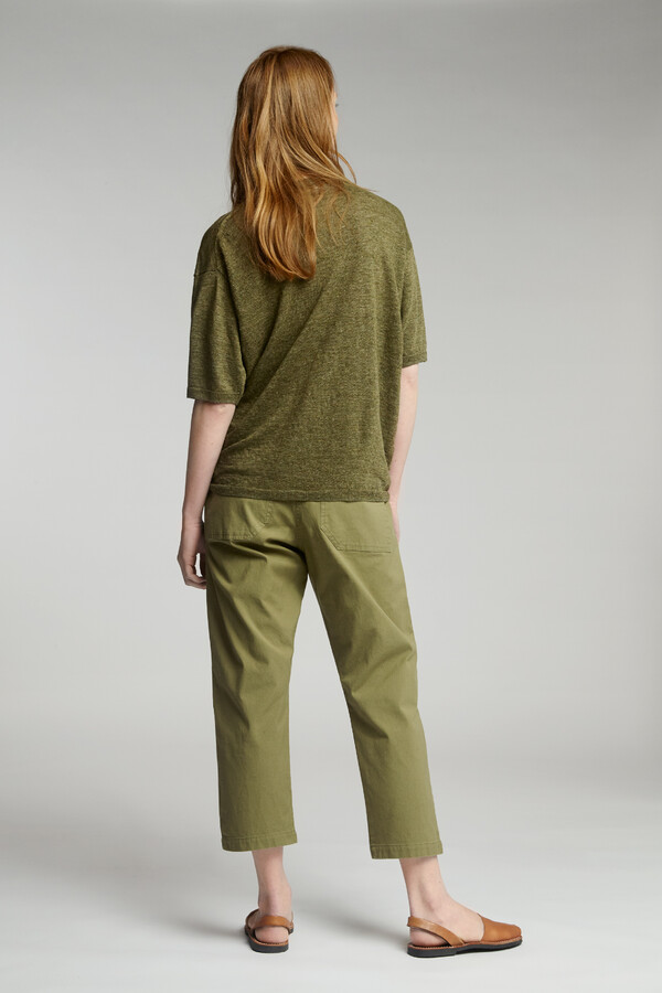 COTTON RELAXED BROEK SAFARI GREEN