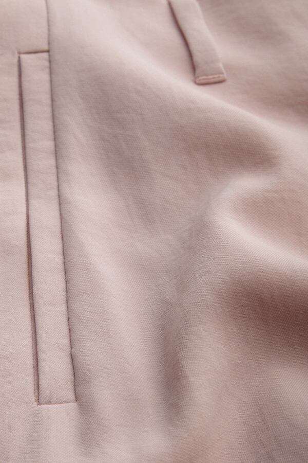 JAPANESE CREPE WIDE LEG BROEK FADED ROSE