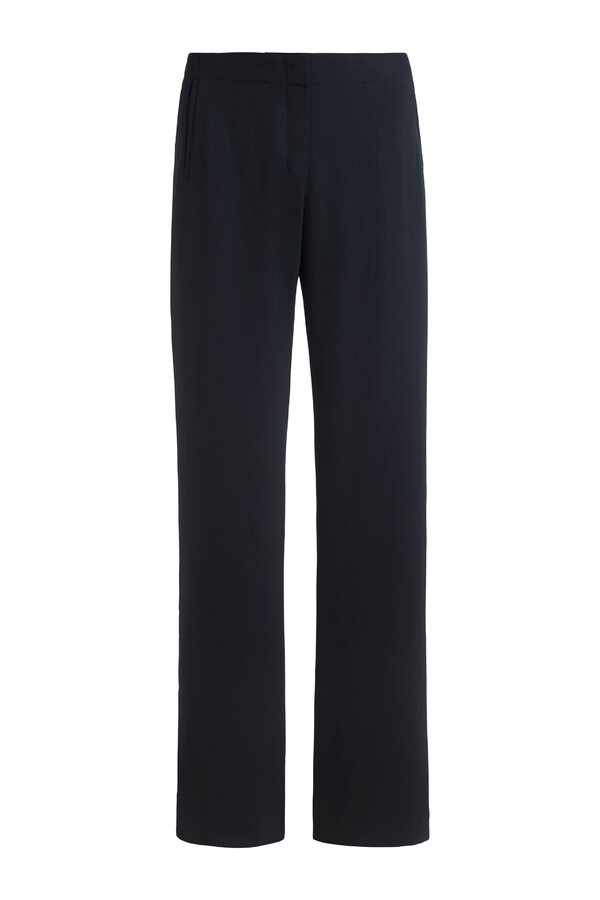 JAPANESE CREPE WIDE LEG BROEK MIDNIGHT BLUE