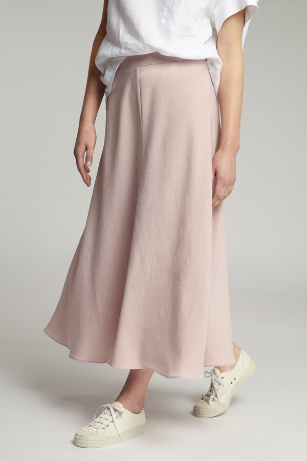 JAPANESE CREPE LONG ROK FADED ROSE