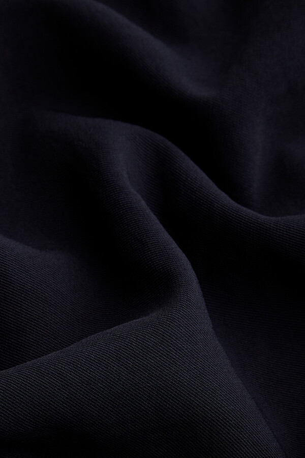JAPANESE CREPE LONG ROK MIDNIGHT BLUE