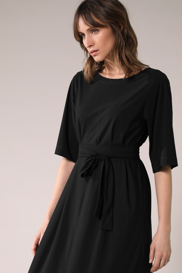 LONG WIDE TEE DRESS BLACK