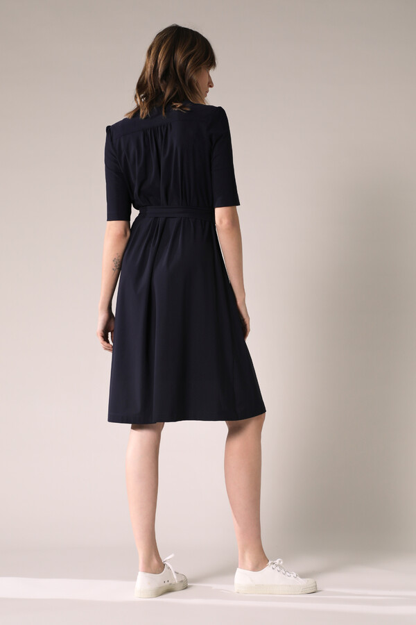 SHORT SLEEVE DRESS INK BLUE
