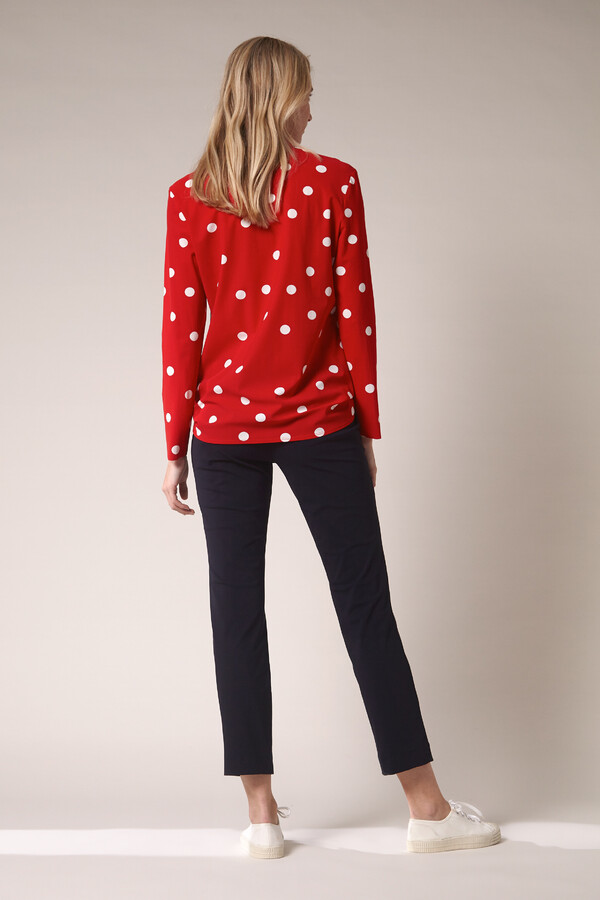 SHIRT DOT PRINT RADICAL RED