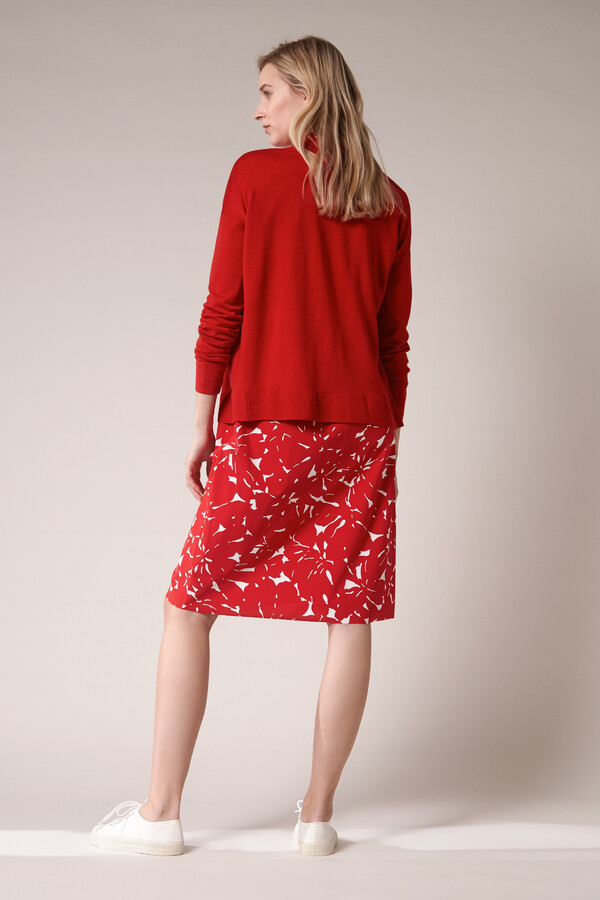 SOFT MERINO CARDIGAN RADICAL RED