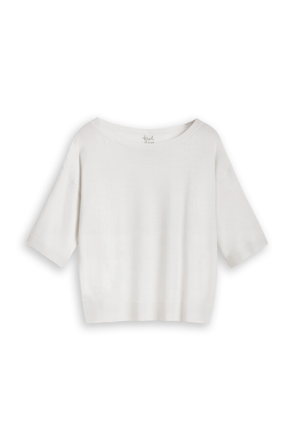 SOFT MERINO CREW KNIT OFF WHITE
