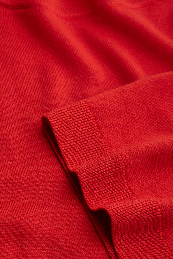 SOFT MERINO CREW KNIT RADICAL RED