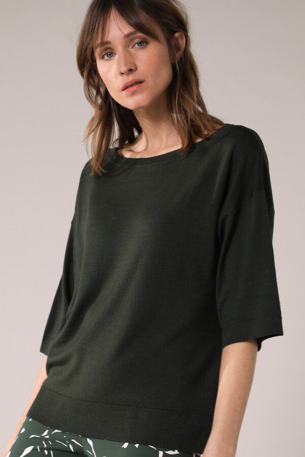 SOFT MERINO CREW KNIT GREEN