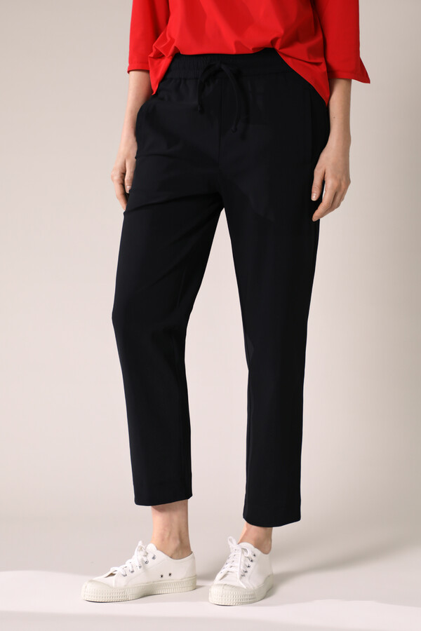 ELASTIC WAIST PANTS BLACK