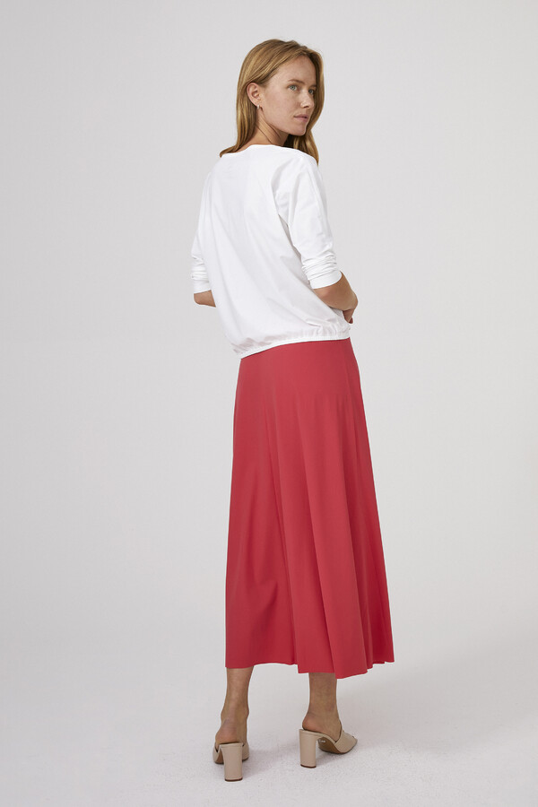 SPLIT NECK LOOSE TOP OFF WHITE