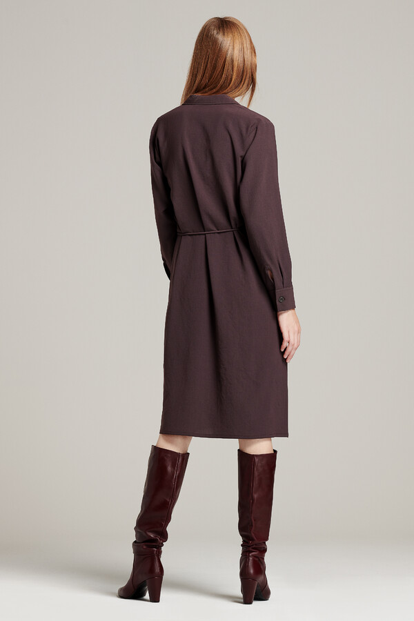 TUNIC DRESS SMOKEY BROWN