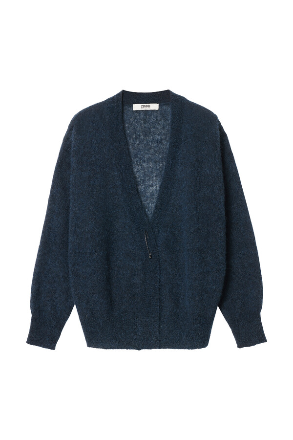 ALPACA CARDIGAN SMOKEY BLUE