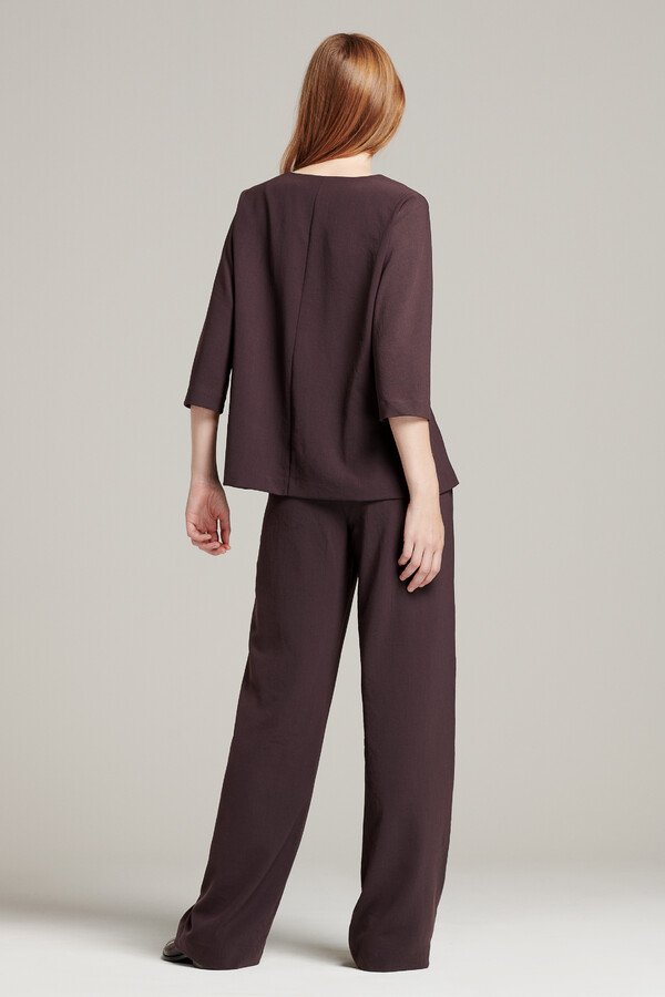 RELAXED TOP SMOKEY BROWN