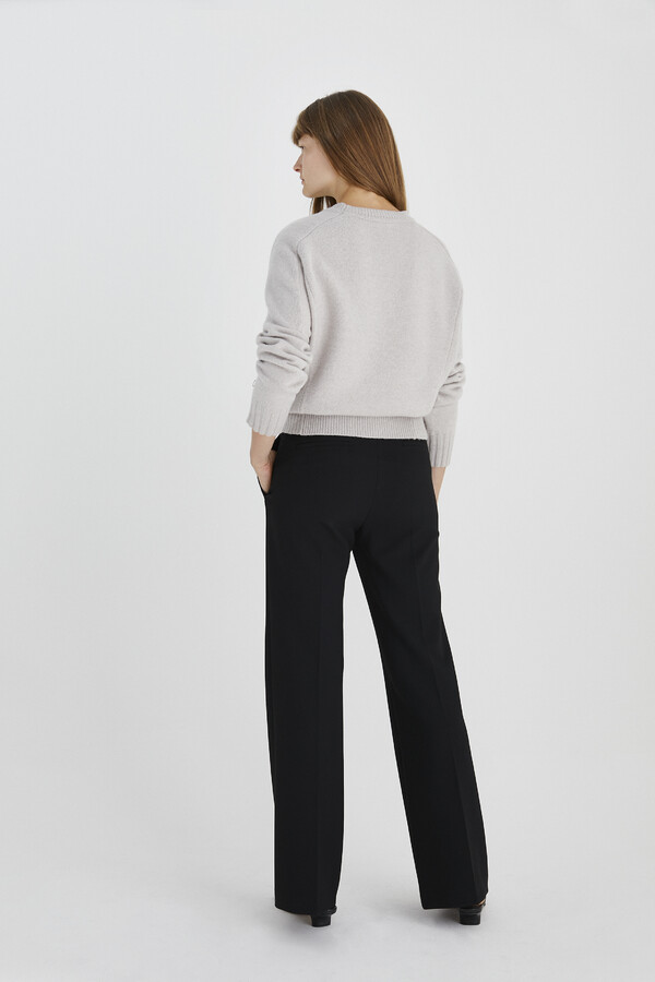 FLARED TAILORED PANTS BLACK