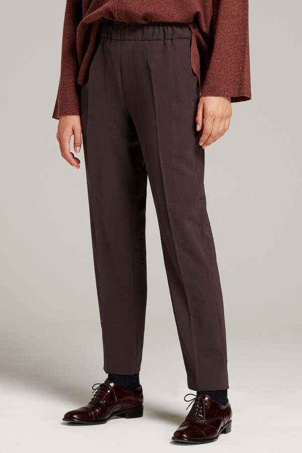 PULL ON PANTS SMOKEY BROWN