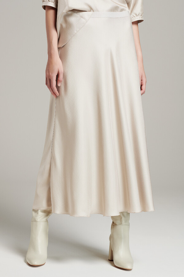 LONG SWAN SKIRT PORCELAIN