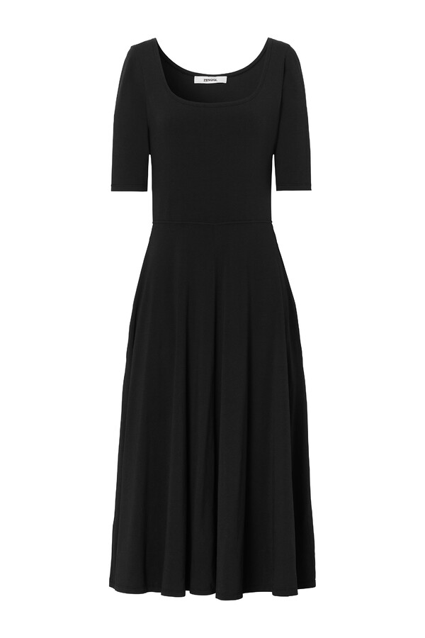 STRETCH JERSEY GINA DRESS BLACK