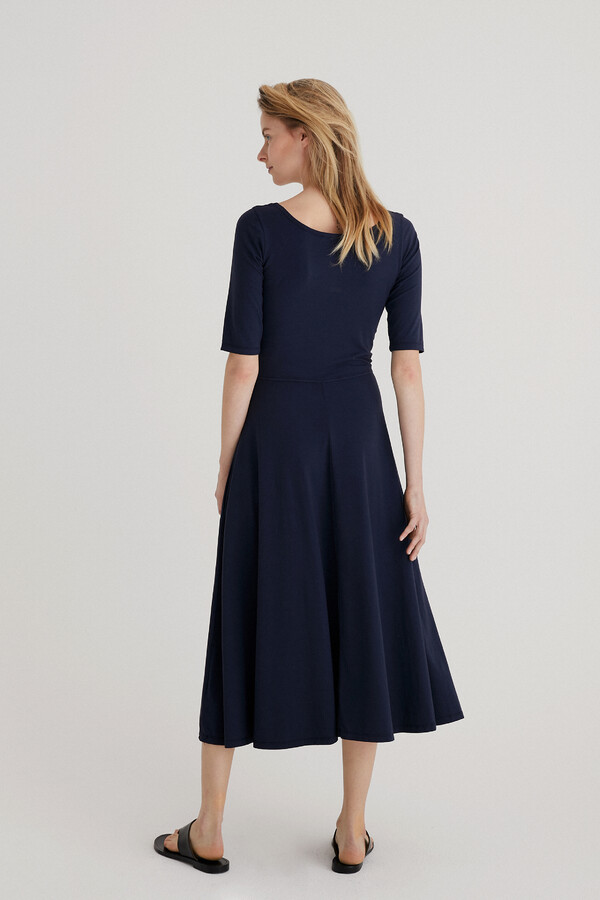 STRETCH JERSEY GINA DRESS DARK BLUE