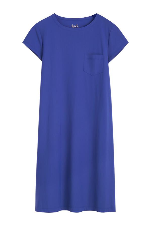 T-SHIRT DRESS CLEAR BLUE