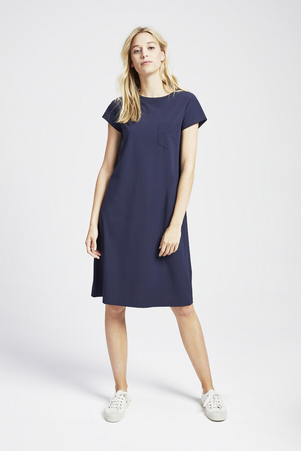 T-SHIRT DRESS SMOKEY BLUE