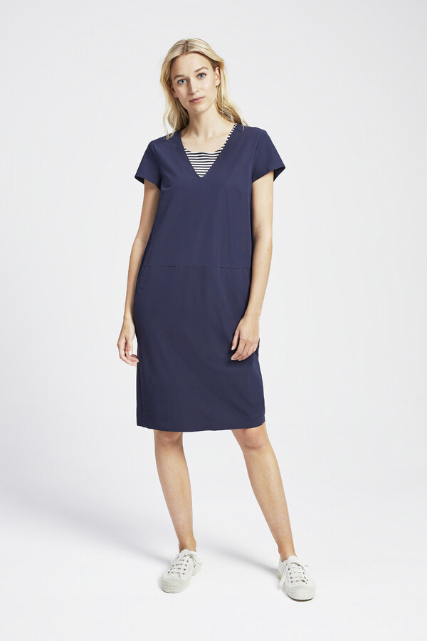 NEW POCKET DRESS SMOKEY BLUE