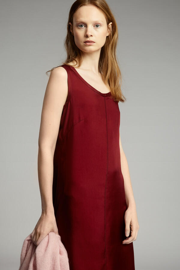 EASY SILKY TANK DRESS CARDINALE