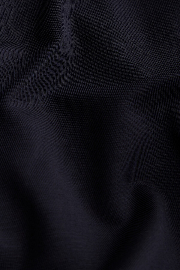 FOLDED PANTS MADE OF TENCEL™ MIDNIGHT BLUE