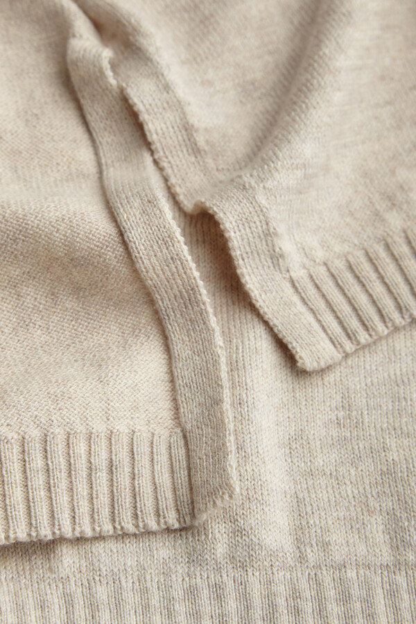 COTTON CREW TOP EGGSHELL