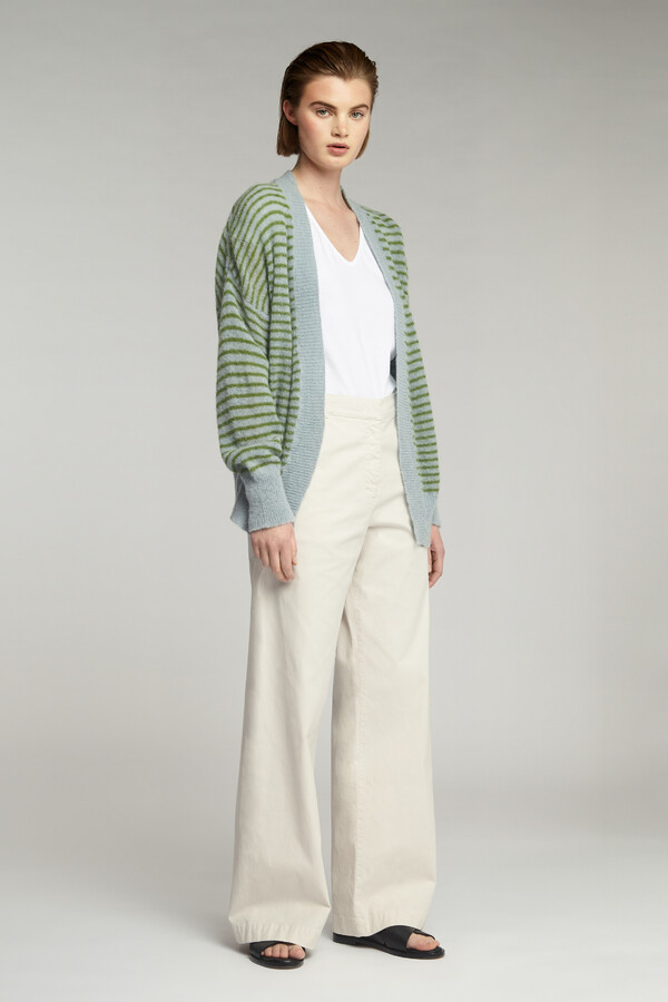 SUMMER ALPACA CARDI JUNGLE STRIPE