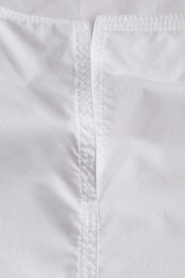 COTTON SPLIT FRONT TOP WHITE