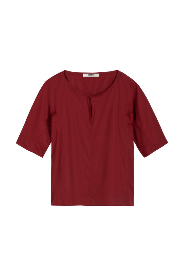 COTTON SPLIT FRONT TOP CARDINALE