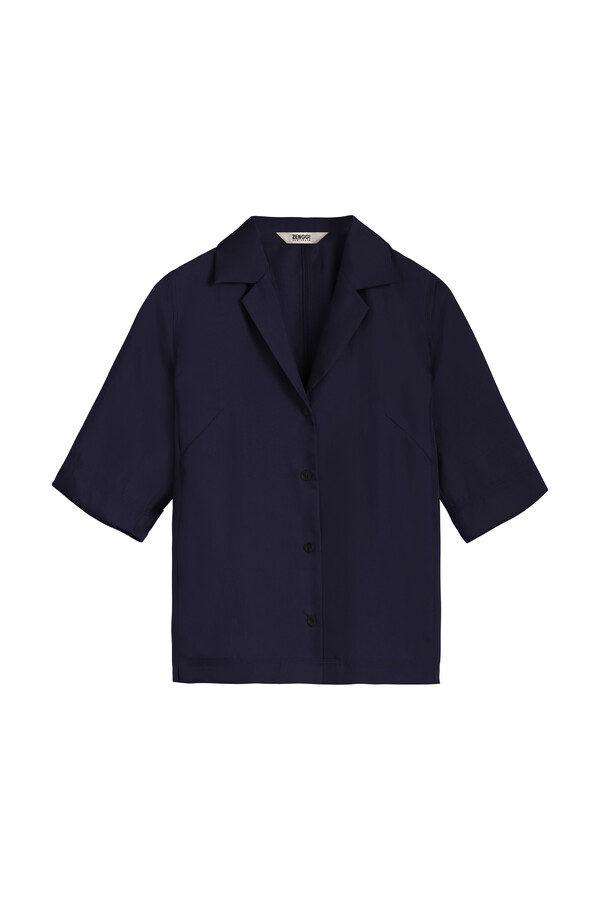 SHORT SLEEVE NOTCH SHIRT JAPAN BLUE