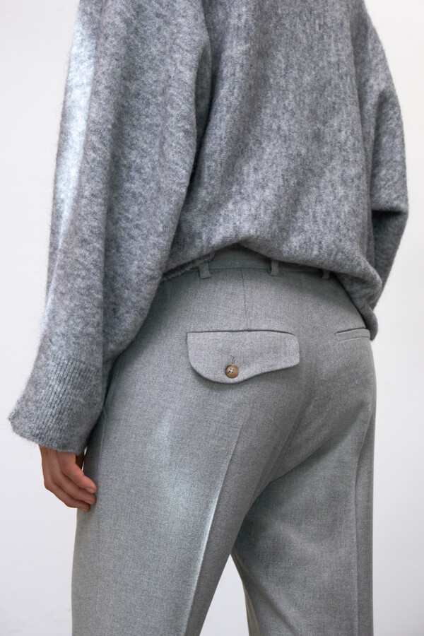 FLANNEL MAINE PANTS MISTY GREY